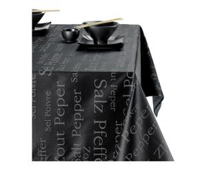 Nappe SEL & POIVRE, noir - 150*250