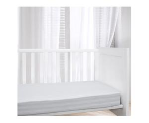 Housse de matelas ENFANT coton satiné, blanc - 60*120