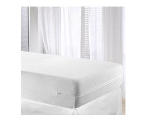 Housse de matelas TISSU EPONGE coton, blanc - 90*190