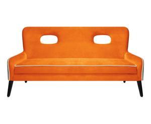 Canapé 2 places BUICK, orange et gris souris - L145