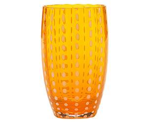 Verre à eau PERLE verre soufflé, orange - 47cL