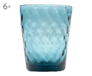 6 Verres, bleu clair - 32cL