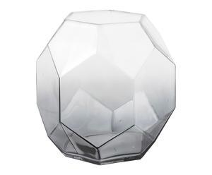 Vase GEOMETRI, gris - H24