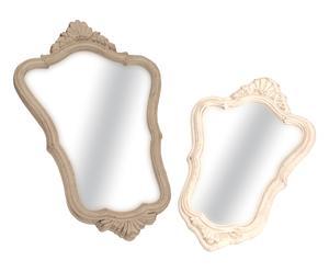 2 Miroirs, taupe et crème - 41*32