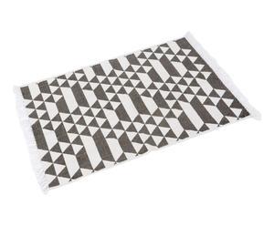 Tapis NOI, gris et blanc - 90*60