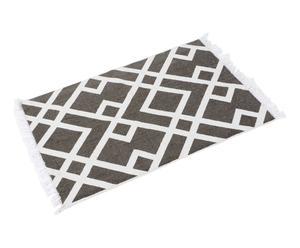 Tapis, gris et blanc - 120*180