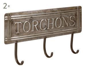2 Accroche-torchons, argenté - L17
