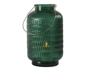 Lanterne, vert bouteille - H40