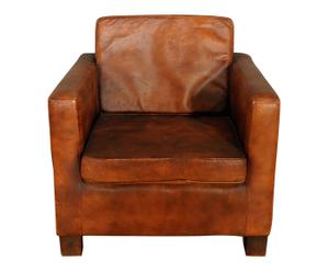 Fauteuil VINTAGE cuir, marron - L80