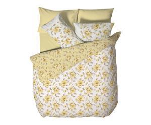Housse de couette LORETTA, jaune et blanc - 220*240