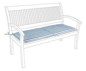 Coussin de banc, bleu et blanc - 42*165