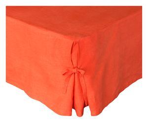 Cache-sommier JULIA lin lavé, orange foncé, 180 x 200 cm