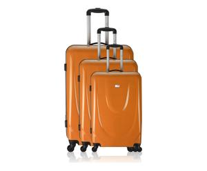 3 Valises chariot FLIGHT - orange