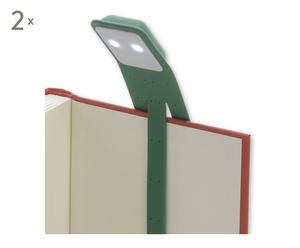 2 Liseuses BOOKLIGHT, vert - 21*12