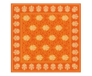 Nappe carrée TOSCANE coton, orange, 170 x 170 cm