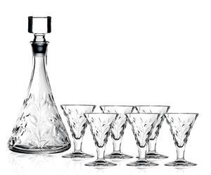 Carafe et 6 verres à liqueur LAURUS I