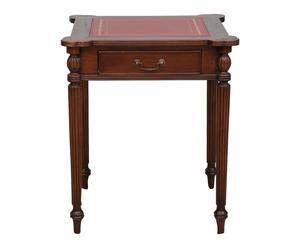 Table de jeu bois d\'acajou, rouge et marron - 65*65