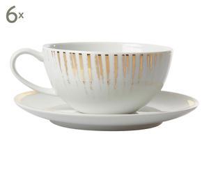 Tasse à thé AURUM, blanc et doré - H6