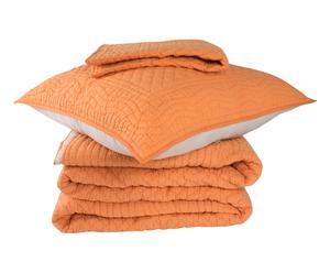 Parure de lit BASI, orange - 3 Pièces