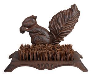Gratte-pieds écureuil, bronze et naturel - 16*25
