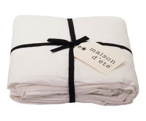 Cache sommier lin lavé, blanc, 90 x 200 cm