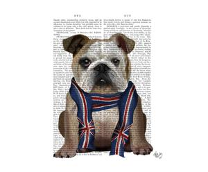 Affiche ENGLISH BULLDOG WITH SCARF - 20*26