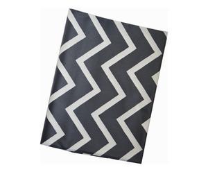 Nappe CHEVRON coton, noir, 240 x 160 cm