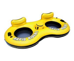 Bouée gonflable, jaune et noir - L259