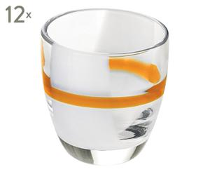 12 Verres à liqueur, orange - H7