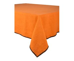 Nappe BARCELONE lin lavé, orange, 170 x 170 cm