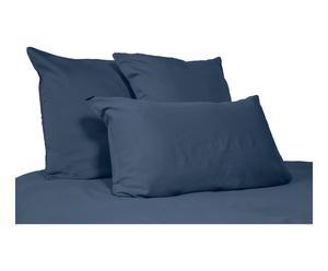 Housse de couette SOLEIL lin lavé, bleu navy, 240 x 260 cm