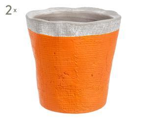 2 Cache-pots, orange - Ø16