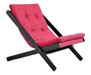 Chaise basse BOOGIE - noir et magenta