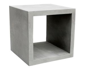 Cube de rangement MONOBLOC béton, gris - 34*34