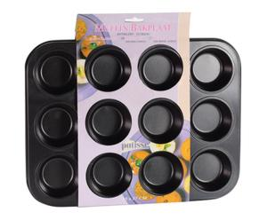 Plaque 12 muffins, noir - 35*35