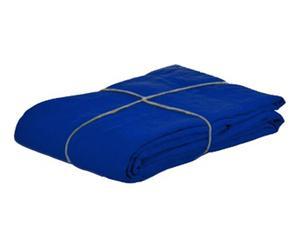 Drap plat INDIGO, bleu - 270*310