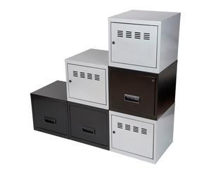 6 Cubes de rangement NILA, gris et blanc - 40*40