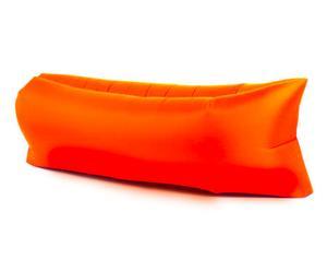 Pouf gonflable, orange - L260