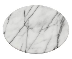 Plateau tournant marbre, blanc et gris - Ø31