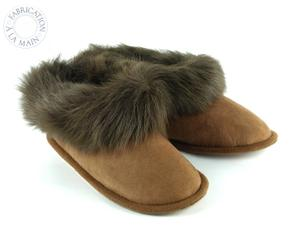 Paire de chaussons SHEEP, marron, Taille : 37