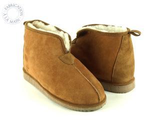Paire de chaussons ANKLES, marron et beige, Taille : 40