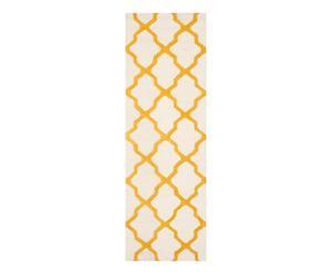 Tapis AVA, ivoire et jaune - 76*243
