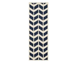 Tapis BRENNA, bleu foncé et ivoire - 68*213