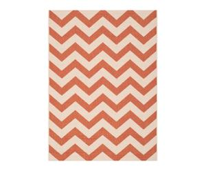 Tapis CHELSEA, orange et beige - 121*170