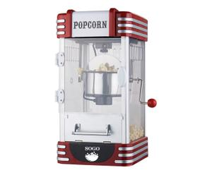 Machine à pop corn rétro, rouge et argenté - 32*49