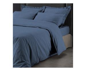 Housse de couette coton lavé, bleu, 200 x 200 cm