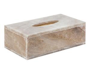 Boîte à mouchoirs, marron et blanc - 27*15