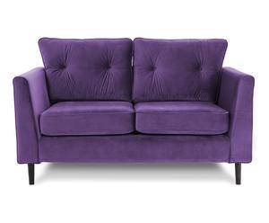 Canapé 2 places, violet - L150