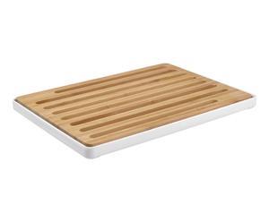 Planche à pain bois de bambou et polypropylène, naturel - 35*25