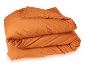 Housse de couette HENRY coton lavé, orange - 200*200